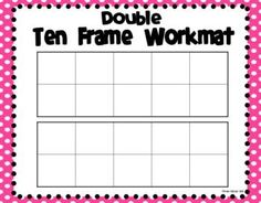 Ten Frame Workmats {FREEBIE} laminate and use dry erase markers