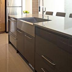 Cuisines Beauregard   Mélamine Melamine Wood, Custom Built Homes, Wood Cabinets, Kitchen, House, Garage, Decoration, Home Decor, Style