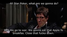 That's what you get for not letting All Star #Poker launch July 2nd, Apple. #tonymontana #scarface #99problems #wsop #mainevent #gamedev
