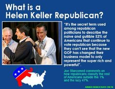REPUBLICAN SHEEPLE... THIS IS HOW YOUR RICH REPUKE PARTY SEES YOU!! BLIND+STUPID!!