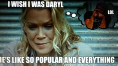 lol. She was very defensive on Talking Dead. Must get tired of people trashing her character.