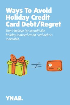 Ways To Avoid Holiday Credit Card Debt/Regret Paying Off Student Loans, Get Out Of Debt, Debt Payoff, Inevitable, Regrets, Christmas Gifts, Holiday, Budgeting, Finance