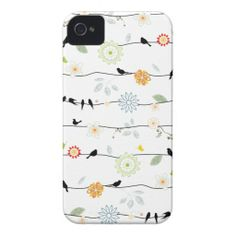 Birds on Vines iPhone 4s Case iPhone 4 Cover