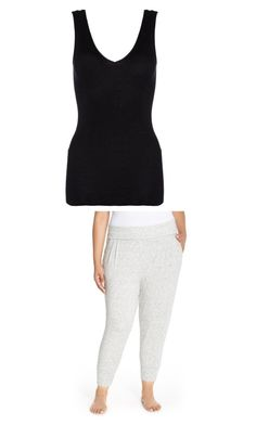 """Lounging"" by kymmypoo on Polyvore featuring Hanro, DKNY and plus size clothing"