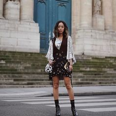 Yesterday heading to my last show of #PFW this season. Wearing @louisvuitton by @nicolasghesquiere