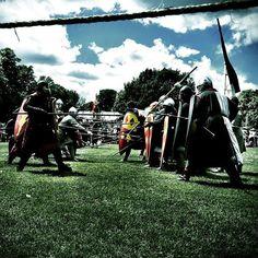 http://electroosmosisltd.co.uk #epsom #knights #fight #medival #battle #medivalbattle #swords #spears #shields #london #exploringbritain #england #sky #fierce #fiercebattle #fightingknights #vassalsandlords #armour #combat #chainmail #dramaticphotography #medivalcombat #Capturing_Britain