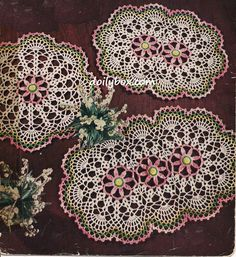 Free Vintage Crochet Three Way Daisy Doily Pattern