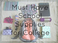 Must have school supplies for college students | Courtney's Little Things