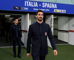 Davide Astori of Italy prior to the press conference at Juventus Stadium on October 5, 2016 in Turin, Italy.