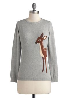 Fawn-semble Sweater, #ModCloth I NEED THIS SWEATER.