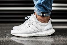 DEAL Inexpensive Adidas Ultra Boost All White Shoes Clearance