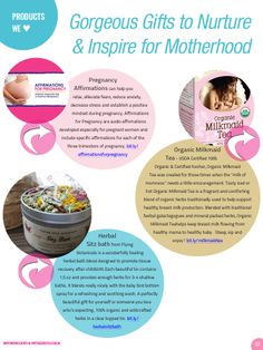 #Products We Love: #Affirmations for #Pregnancy CDs by Mindful Pregnancy/ #Organic Milkmaid Tea/ #Herbal sitz bath by Flying Botanicals.....As seen in #Empowering Birth Magazine ~ now available on iPad, iPhone or PDF.