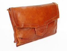 Vintage Oversized Leather Envelope Clutch Purse Amazing