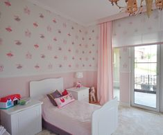 Pink and Purple Toddler Room