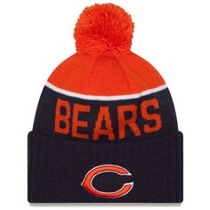 7bbf2f54ea7 Chicago Bears On-Field Sport Knit Hat with Pom by New Era