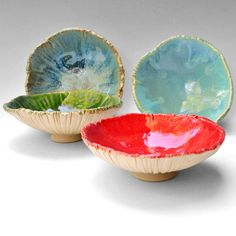Handmade Ceramic Bowls | handmade ceramic bowls set of 4 modern pottery Bowls ice cream bowl ...