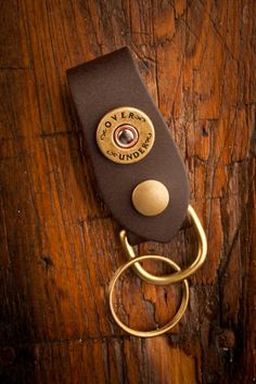 Leather Bullet Key Fob | Over Under Clothing, LLC | Bourbon & Boots