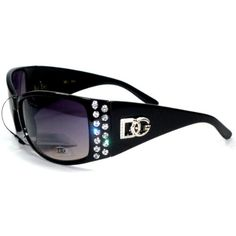 DG Eyewear Rhinestone Bling Black Womans Sunglasses Shades *** You can find more details by visiting the image link.Note:It is affiliate link to Amazon.