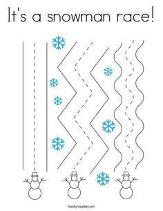 It's a snowman race Coloring Page - Twisty Noodle Weather Activities Preschool, Winter Activities For Kids, Preschool Activities, January Crafts, Winter Theme, School Fun, Coloring Pages, Snowman, Classroom