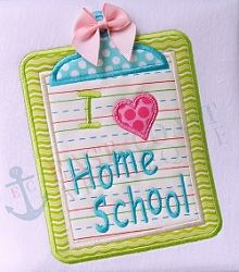 Homeschool Clipboard Applique - 3 Sizes! | What's New | Machine Embroidery Designs | SWAKembroidery.com East Coast Applique