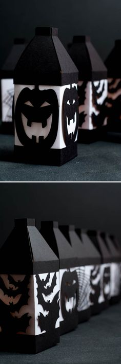 Halloween Paper Lanterns, made easy with a Cricut Explore! Halloween Paper Crafts, Manualidades Halloween, Halloween Cards, Holidays Halloween, Fall Halloween, Halloween Decorations, Halloween Ideas, Halloween Designs, Halloween Patterns