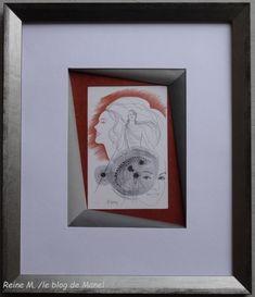 Reine M / elève de Manel / biseau perroquet Blog, Gallery Wall, Frame, Decor, Characters, Illuminated Manuscript, Picture Frame, Fantasy, Frames