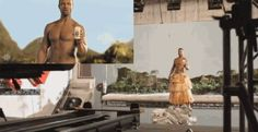How the Old Spice commercial was filmed. Practical effects.