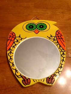 Vintage 1970s Owl Mirror by HighleyVintage on Etsy, $8.95