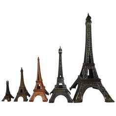 Eiffel Tower Souvenir Buildings - Set of 5 (420 PLN) ❤ liked on Polyvore featuring home, home decor, figurines, models & figurines, eiffel tower home decor, metal home decor, eiffel tower figurine and metal figurines