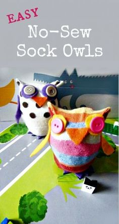 So, if you have some random socks lying around… you can make these no-sew owls 1-2-3. The can be cute for a child's room or as decoration for easter or spring. Have fun with them! Get the full instructions here => Easy No-Sew Sock Owls Happy No-Sewing! Jenny T. Read more...