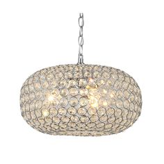 Francisca Oval-shaped Crystal and Chrome 3-light Chandelier - Overstock™ Shopping - Great Deals on Otis Designs Chandeliers & Pendants