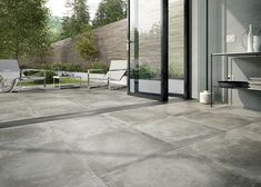 Quantum Group supply high quality porcelain, stone, ceramic and carpet tiles to retailers, group builders and projects by architects and interior designers. Patio Tiles, Outdoor Tiles, Outdoor Decor, Cement Pavers, Concrete Tiles, Exterior Gris, Modern Exterior, Terrazzo, Ceramica Exterior