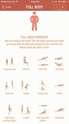 Full Body Workout ; Do 2-3 circuits // from 7minworkoutapp