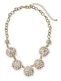 Possible update for Charlotte. Tinley Road Faux Pearl Cluster Disc Necklace | Piperlime