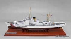 "24"" replica model of the USCGC Campbell (WPG-32). SD Model Makers offers made-to-order museum quality replica USCG ship, cutter and boat models, in ANY size or scale. Contact us for a quote - www.sdmodelmakers.com"