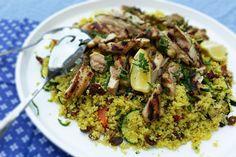 Couscous met gegrilde kip