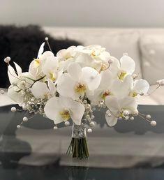 White bridal bouquet is always a good idea👰🏻 www.yassitaheri.com www.yassitaheri.com . . . #bridalbouquet #whitebridalbouquet… White Orchid Bouquet, Orchid Bridal Bouquets, White Wedding Bouquets, Bride Bouquets, Flower Bouquet Wedding, Wedding Hall Decorations, Spring Wedding Flowers, Bride Flowers, Orchids