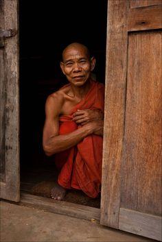 Monk in Bagan. Loving Christopher Martin's photos of Burma...