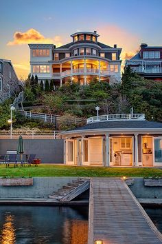 dream house, architecture, residential, perfect home, home design… Houses Architecture, Architecture Antique, Architecture Design, Water Architecture, Mansion Homes, Mega Mansions, Luxury Mansions, House Goals, Home Living