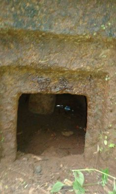 One old Cave out side view in Kerala