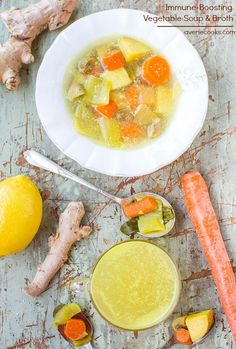 Immune-Boosting Vegetable Soup and Broth (vegan, GF) - Easy soup that's healthy, nourishing, and keeps you healthy! Bye-bye germs!