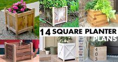 14 FREE DIY Square Planter Box Plans