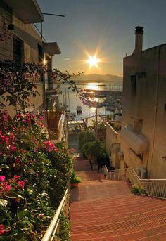 Morning in Kastella, Piraeus Greece