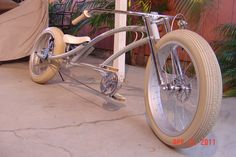 "I just created my new decals for my Shark Bike made by Sam Mckay at Firebikes. It says ""Carcharodon Bike"" which is the Beach Cruiser Bikes, Cruiser Bicycle, Cool Bicycles, Cool Bikes, Lowrider Bike, Old Bicycle, Chopper Bike, Fat Bike, Bike Rider"