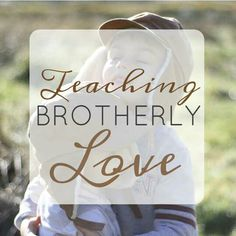 Boys are competitive little animals, and it's not necessarily natural for them to be loving and kind to their brother(s). Brotherly love is a unique concept, but I've learned some things that help me understand and cultivate a loving relationship between my two boys.