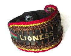 Lioness Roar WordSound Faux Leather Crochet by LionessXpressions, $24.99