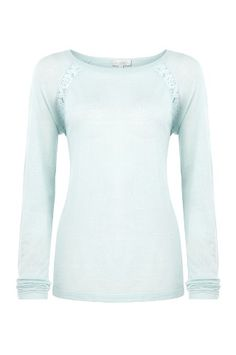Lace Trim Jumper, a pretty pastel and lace top for spring/summer.