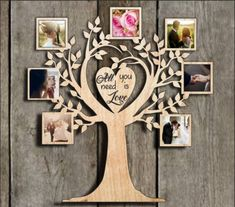 Rama Foto Lemn Copac Personalizata Gravura Laser No. Collage Frames, Photo Wall Collage, Wooden Keychain, Photo Frame Design, Tree Stencil, Tree Templates, Laser Cut Files, Framing Photography, Photo Tree