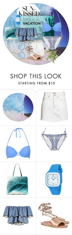 """""""Sun Kissed"""" by bethany-333 ❤ liked on Polyvore featuring H&M, Topshop, Calypso Private Label, Amuse Society, Rip Curl, HUISHAN ZHANG, Ancient Greek Sandals and Matthew Williamson"""