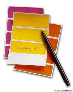 When you're unwrapping gifts, ask someone else to write down givers' names on sticky labels so you can keep track.